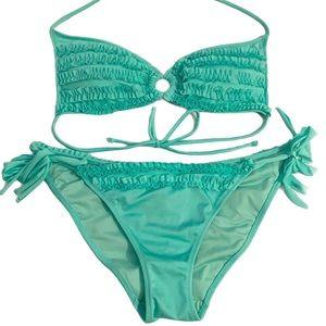 Victoria's Secret Mint Green Ruffle Bikini Set